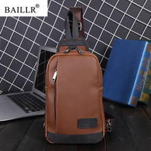 2019 New Fashion Vintage PU Leather Crossbody Bags men Brand messenger bags Male Shoulder Bag Chest bag for men High Quality new high quality canvas bag male solid cover zipper casual shoulder school bags men crossbody bag men s messenger bags hqb2014