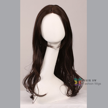 New stylish long Lace Front Wig wavy healthy women hair wig wigs Western Women s Charming