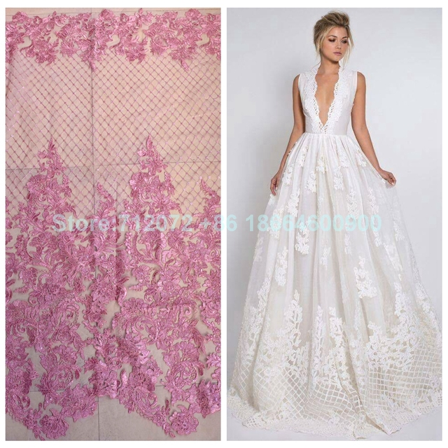 La Belleza New Off White Pink Red Light Blue Gold Beige Bridal