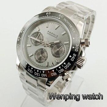 Parnis 39mm Quartz Chronograph Watch Men Top Fashion Brand Luxury Business Waterproof Sapphire Crystal Man Sell well Wrist Watch