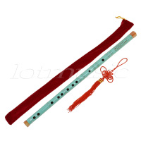 Kmise 2 Pieces Colorful Paint Traditional Chinese Bamboo Flutes Dizi F Key Musical Instrument