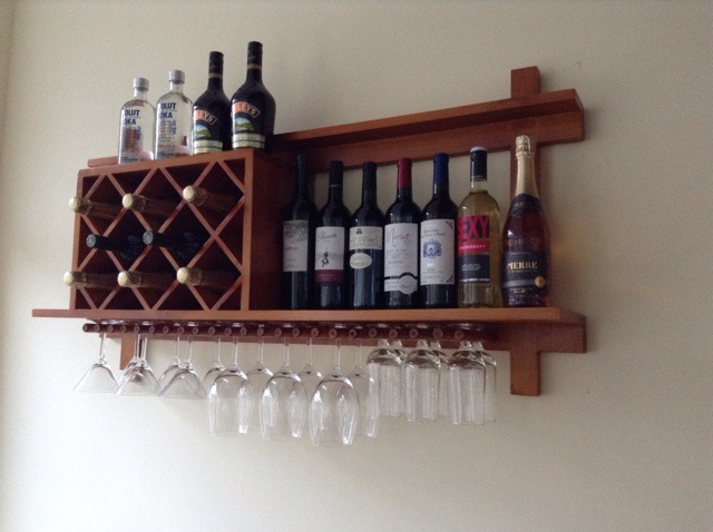 Wooden Wood Wine Rack Wine Cup Holder Combination Restaurant KTV Bar Glass  Display Cabinets Factory Direct