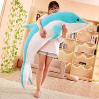 Heißer große plüsch delphin spielzeug stuffed sea tier nette mädchen puppen weich baby schlafen kissen weihnachten geburtstag geschenk für kinder