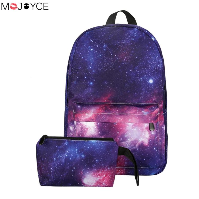 Women backpack for teenage girls school backpack bag Stars Universe Space Printing Canvas Female Backpacks for college students canvas backpack women for teenage boys school backpack male