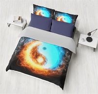 New Arrival Duvet Cover Printing China Style Diagrams Array Bedding Set Unique Design