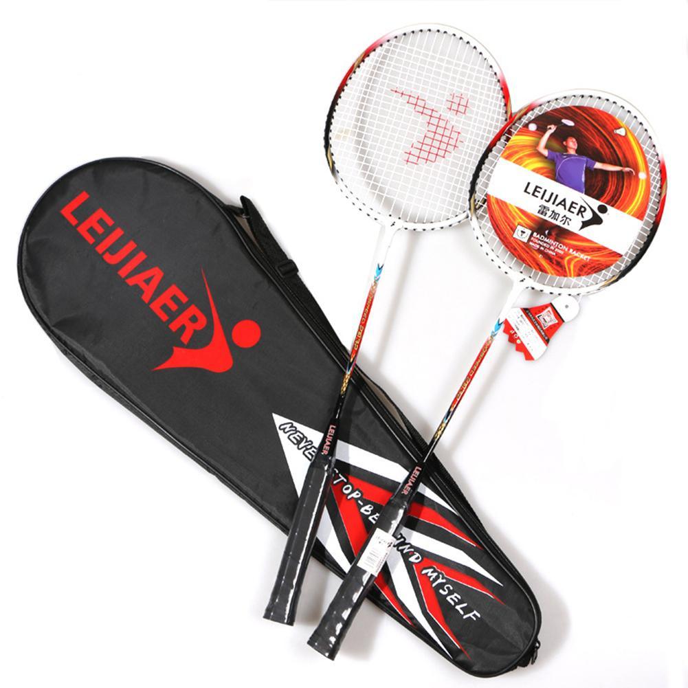HobbyLane 2 Pcs Outdoor Adult Entertainment Badminton Racket Lightweight Aluminum Alloy Hardness Training And Sports Equipment