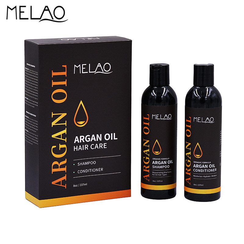 MELAO Organic Glycerol Oil Hair Care Rejuvenating Shampoo Conditioner Set Moisturize Hydrate Hair Smooth and Shine 8oz 237ml O
