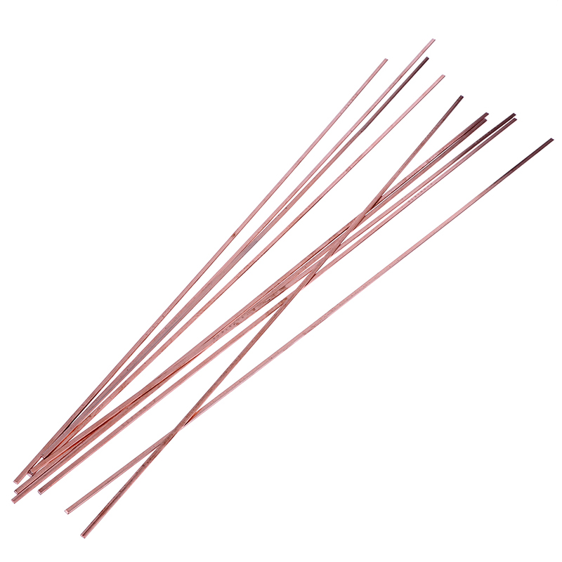 10Pcs Low Temperature Flat Soldering Rods For Welding Brazing Repair Copper Electrode 3x1.3x400mm