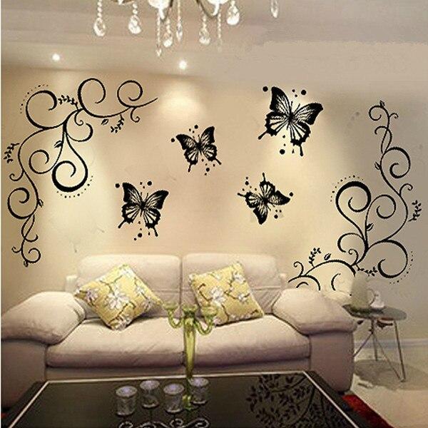 PVC Butterflies Wall Decor Sticker & Removable Home Decal Sticker 1 ...