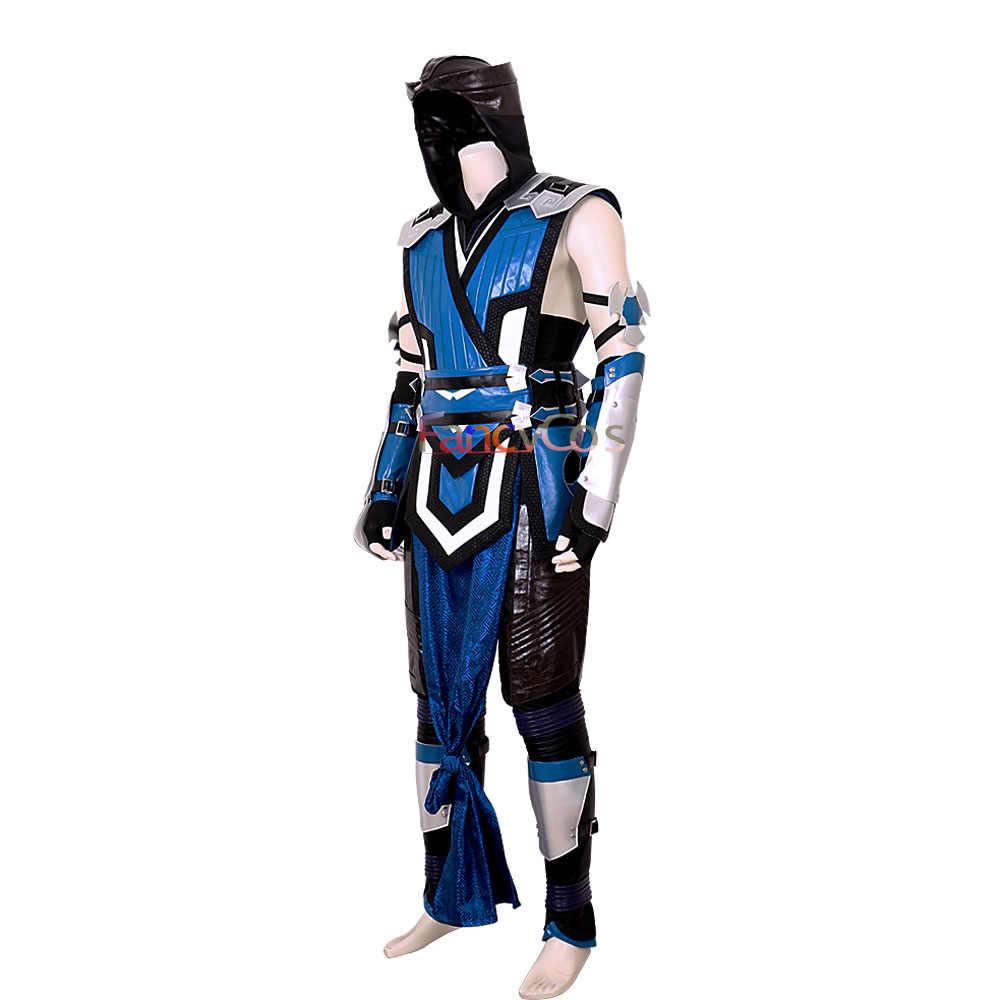 2019 игра Mortal Kombat 11 полный Скорпион человек Ханзо хасаси новый кожа синий костюм косплей Хэллоуин костюм для взрослых на заказ Аниме