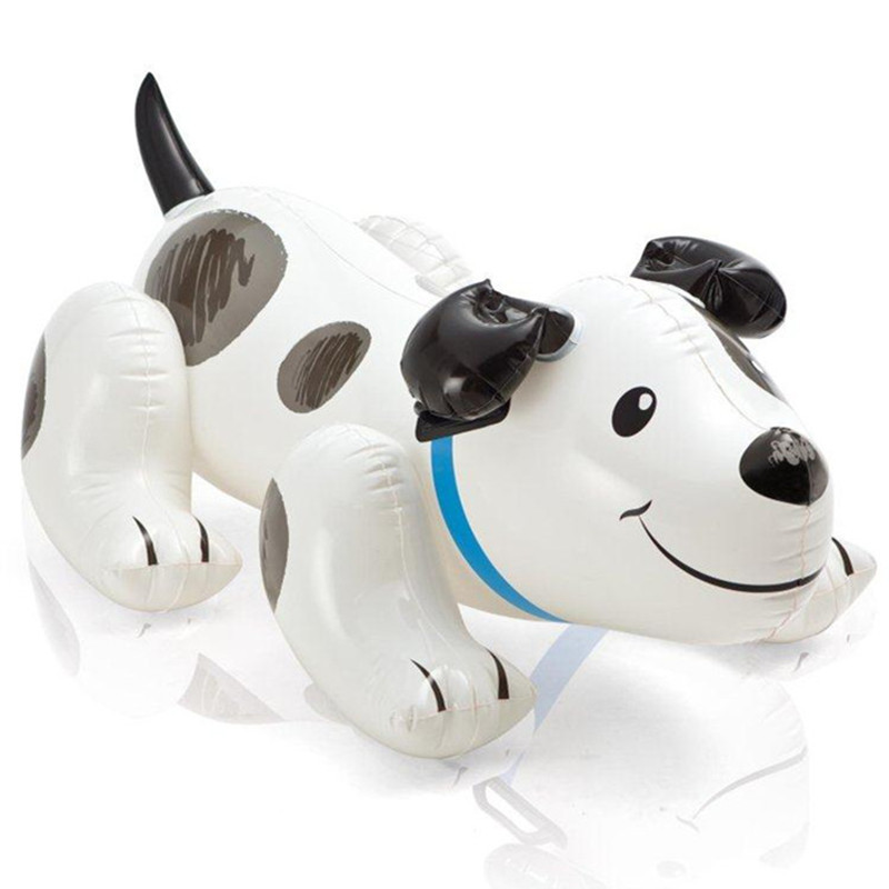 Dalmatians Cartoon Modeling Seat Children Swim Ring Children Inflatable Mounts Water Toy Boat