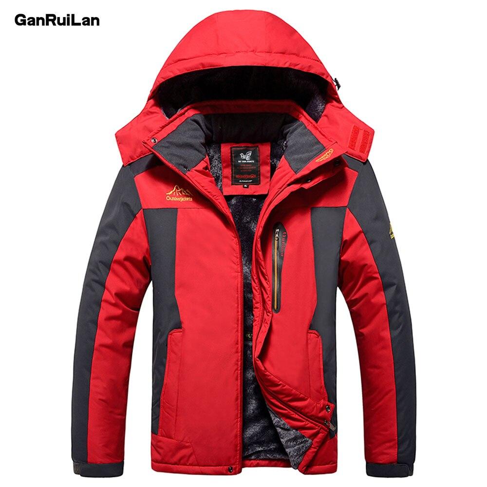 Winter2018 Men's Jackets Plus Size 8XL 9XL Windpoof Army Coats Men Outerwear Thick Fleece Male Jackets Waterproof JK18012