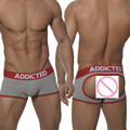 Homens eróticos Sexy roupa interior dos homens Jockstrap Thongs Thong confortável Boxers cintura baixa melhore bolsa Jock Strap cuecas Shorts