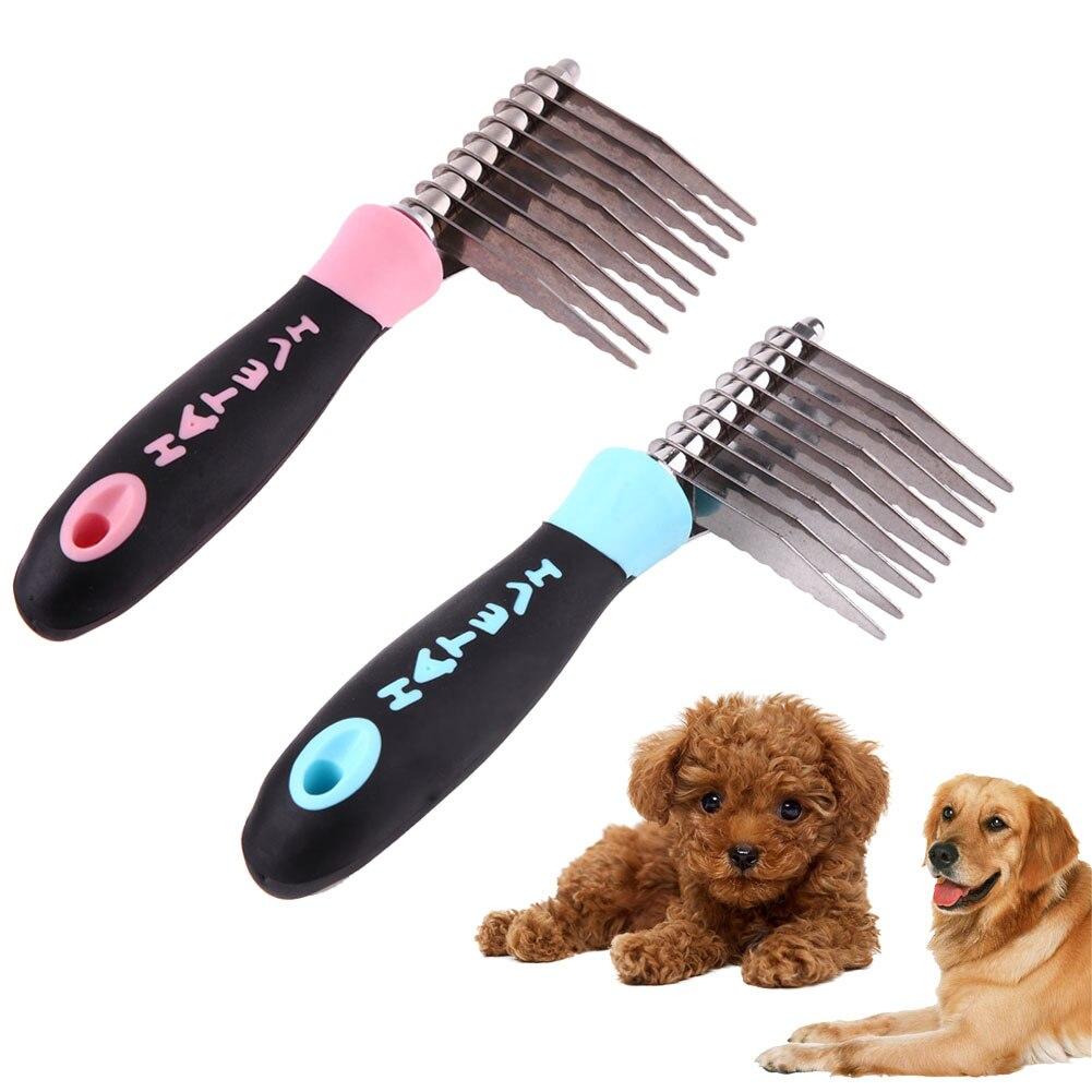 <font><b>Dog</b></font> Bones Pattern Stainless Steel Pins <font><b>Brush</b></font> Puppy Grooming Comb Open Knot <font><b>Removal</b></font> <font><b>Hair</b></font> Comb <font><b>Pet</b></font> <font><b>Quick</b></font> <font><b>Cleaning</b></font> <font><b>Tool</b></font> Supplies