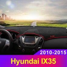 Car dashboard Avoid light pad Instrument platform desk cover Mats Carpets LHD For Hyundai IX35 2010-2013 2014 2015 Accessories