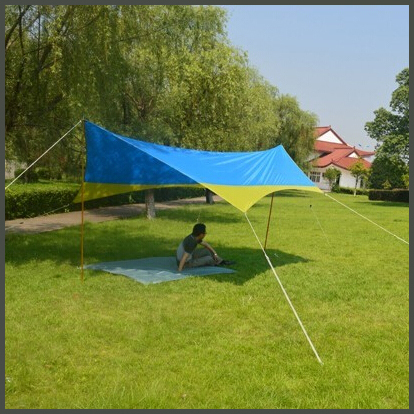 2015Hot Sale Fashion Sun Shelter Waterproof Wind Resistant Canopy Beach Tent C&ing Tarp Free to America-in Sun Shelter from Sports u0026 Entertainment on ... & 2015Hot Sale Fashion Sun Shelter Waterproof Wind Resistant Canopy ...
