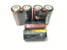 10pcs/lot Trustfire Protected 16340 3.7V Rechargeable Battery Lithium Batteries 880mAh For LED Flashlights/Laser Pen