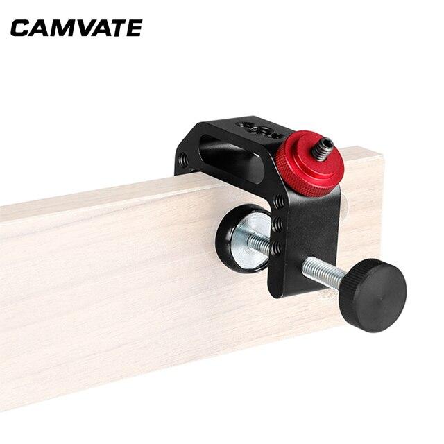 """CAMVATE evrensel kamera C kelepçe destek kelepçeleri kelepçe ile 1/4 """" 20 dişli vida DSLR kamera için dağı fotoğraf aksesuarları"""