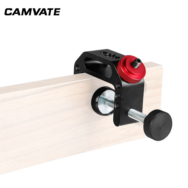 "Camvateユニバーサルカメラcクランプサポートクランプクランプで1/4 "" 20スレッド用一眼レフカメラ写真アクセサリー"