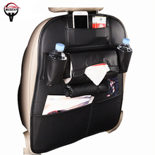 car seat cover storage bag back organizer Interior Accessories Stowing Tidying leather material 1 pcs