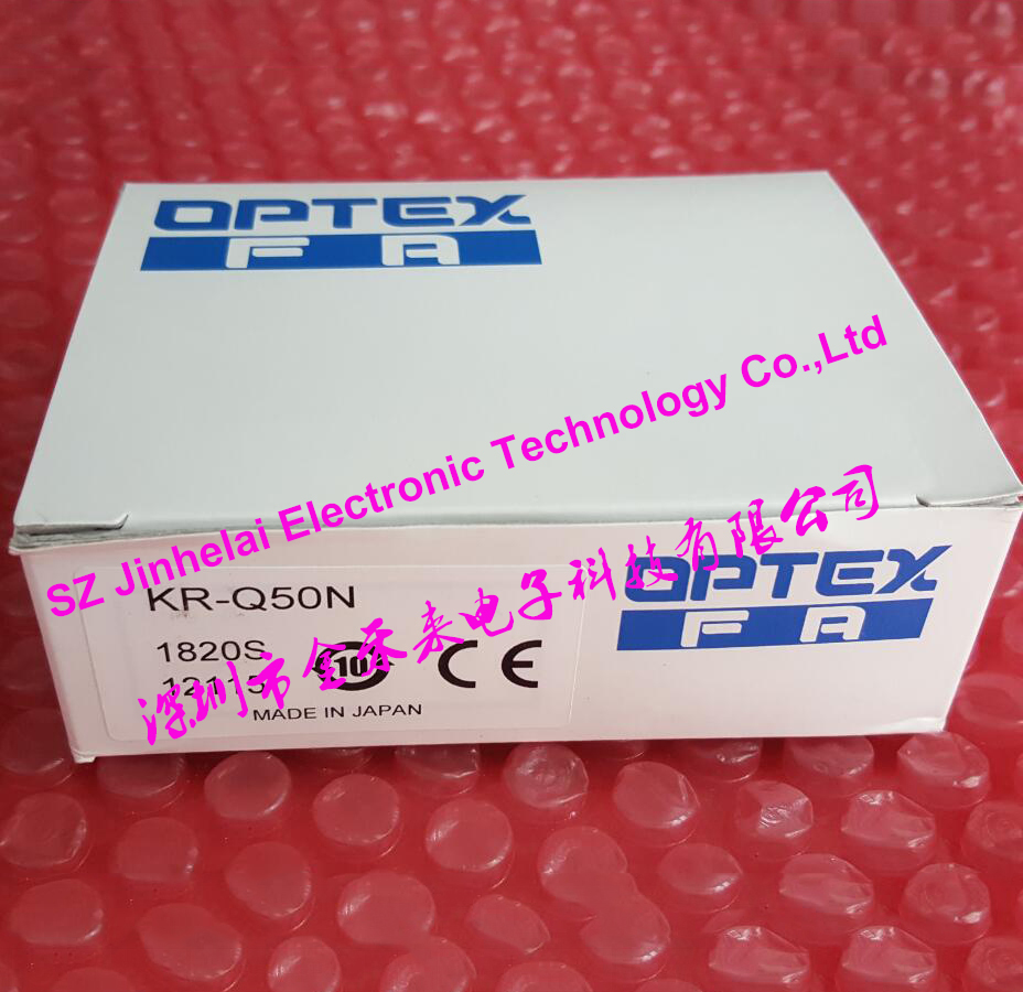 OPTEX KR-Q50N New and original PHOTOELECTRIC SWITCH NPN OUTPUT new and original kr q50n optex photoelectric switch npn output