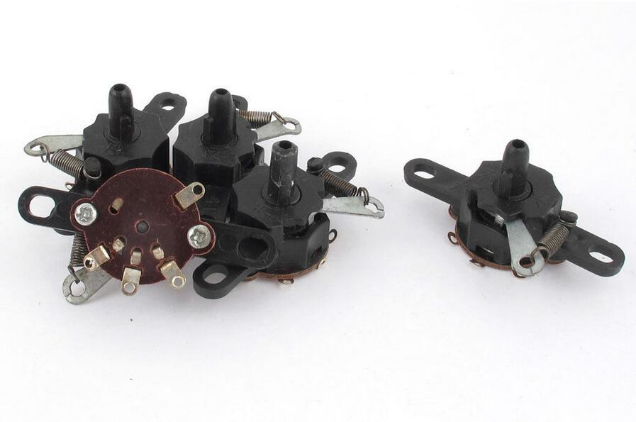 5 Pcs Electric Wall Fan Latching 3 Speed Rotary Pull Cord Switch