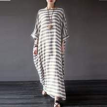 Large Size 5XL Women Striped Loose tshirt dress Vintage oversized autumn women  clothes plus size dresses 01d4d21a11af