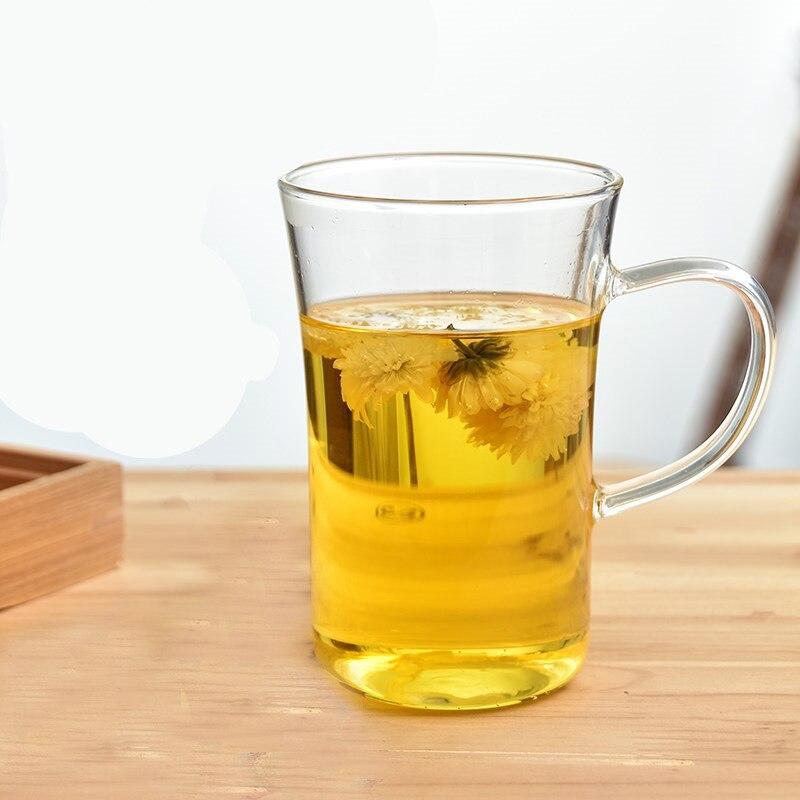Vaso de vidrio resistente al calor de 350 ml, agua, café, vajilla de oficina para el hogar, pu'er/dhongpao/leche oolong/té blanco - 2