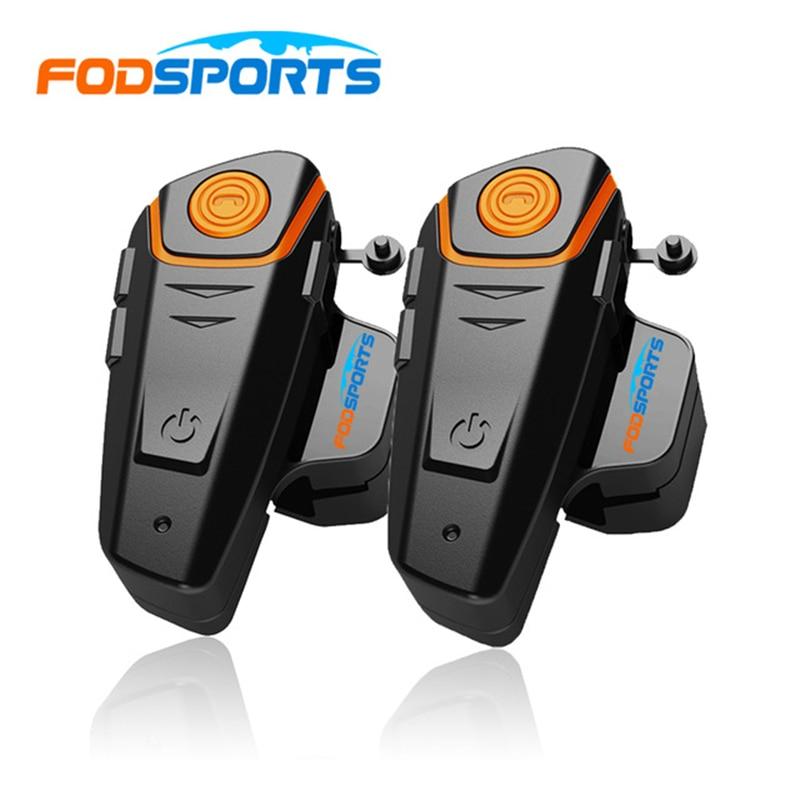 2 pcs BT-S2 Motorcycle Helmet Bluetooth Intercom Headsets 1000m Motorbike Headsets Bt Interphone with FM Waterproof IPX6