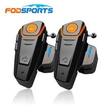 Rusia Stock 2 unids Fodsports BT-S2 1000 m Moto Impermeable 100% de La Motocicleta Del Intercomunicador Del Casco de Bluetooth Del Auricular del Interphone con FM