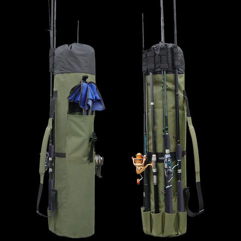 caminhada pesca peixe multifuncoes nylon sacos de pesca saco de vara de pesca caixa de