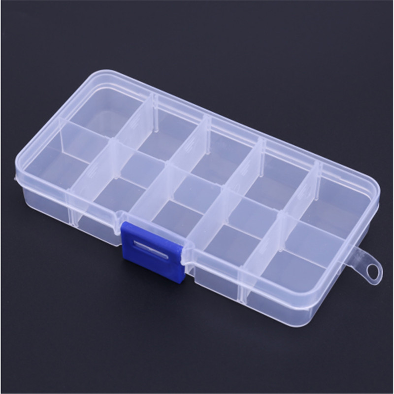 Waterproof Fishing Tackle Boxes Plastic Fishing Lure Bait Hook Storage Case Tackle Box with 10 Compartments Fishing Accessories in Fishing Tackle Boxes from Sports Entertainment