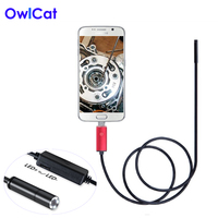 6 LEDs 5MM Lens USB Endoscope Camera IP67 Waterproof Snake Inspection Borescope Video Tube Pipe USB