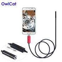 6 LEDs 5MM Lens USB Endoscope Camera IP67 Waterproof Snake Inspection Borescope Video Tube Pipe USB