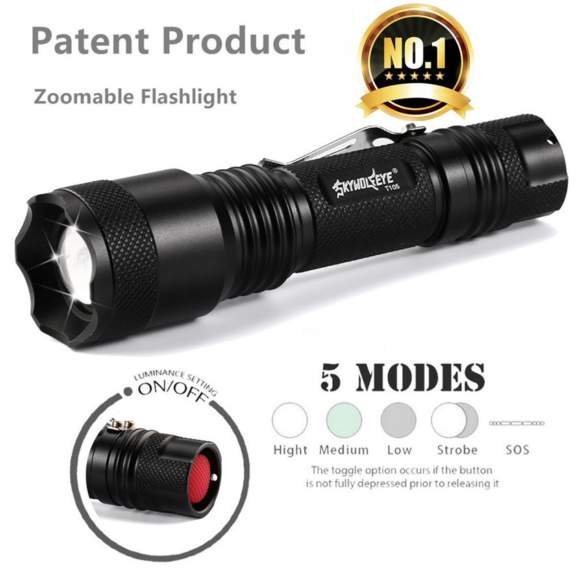 CREE XML T6 5000LM Tactical cree led Torch Zoomable LED Flashlight Torch light фара для велосипеда new 3 x t6 securitying cree xml led xml t6