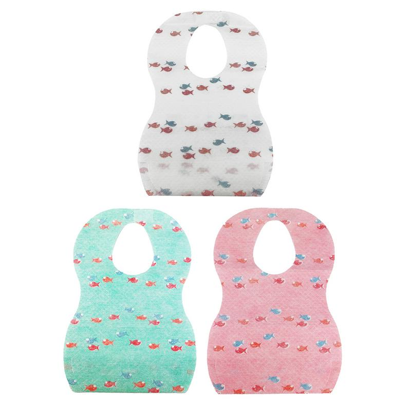 10PCS Pack Wholesale Baby Accessories Outdoor Travel Supplies Disposable Rice Pocket Bib For Children Baby Gilrs Boys