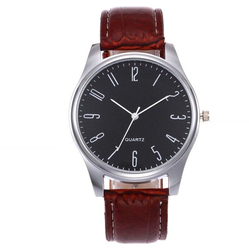 Модные Для мужчин часы Аналоговые Кварцевые Спорт Для мужчин просто Бизнес модные кожаные кварцевые наручные часы часовой моды Для мужчин ...