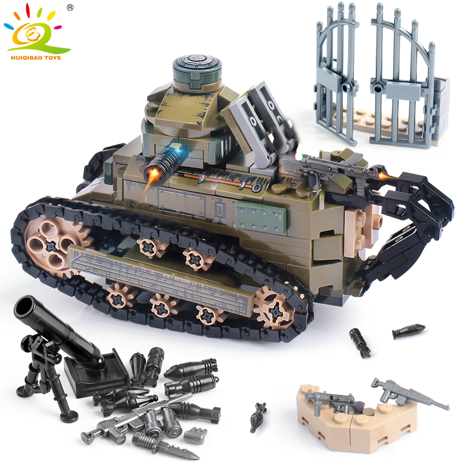 368PCS WW2 Renault FT17 Tank Military Building Blocks compatible legoingly Army Soldier Weapon figures Bricks Toys for Children ru aliexpress com мотоутка