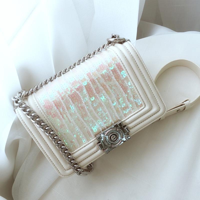 2019 New Women s Bags Designer Chain Sequin Shoulder Messenger Bag Luxury Handbags Women Bags Designer
