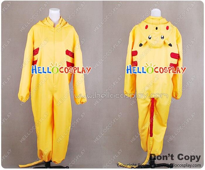 Costume de combinaison Pokemon Cosplay Pikachu H008