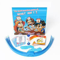 Family Funny Guess Game WHAT AM I The Quick Question Game Toy Set Guessing Card Board