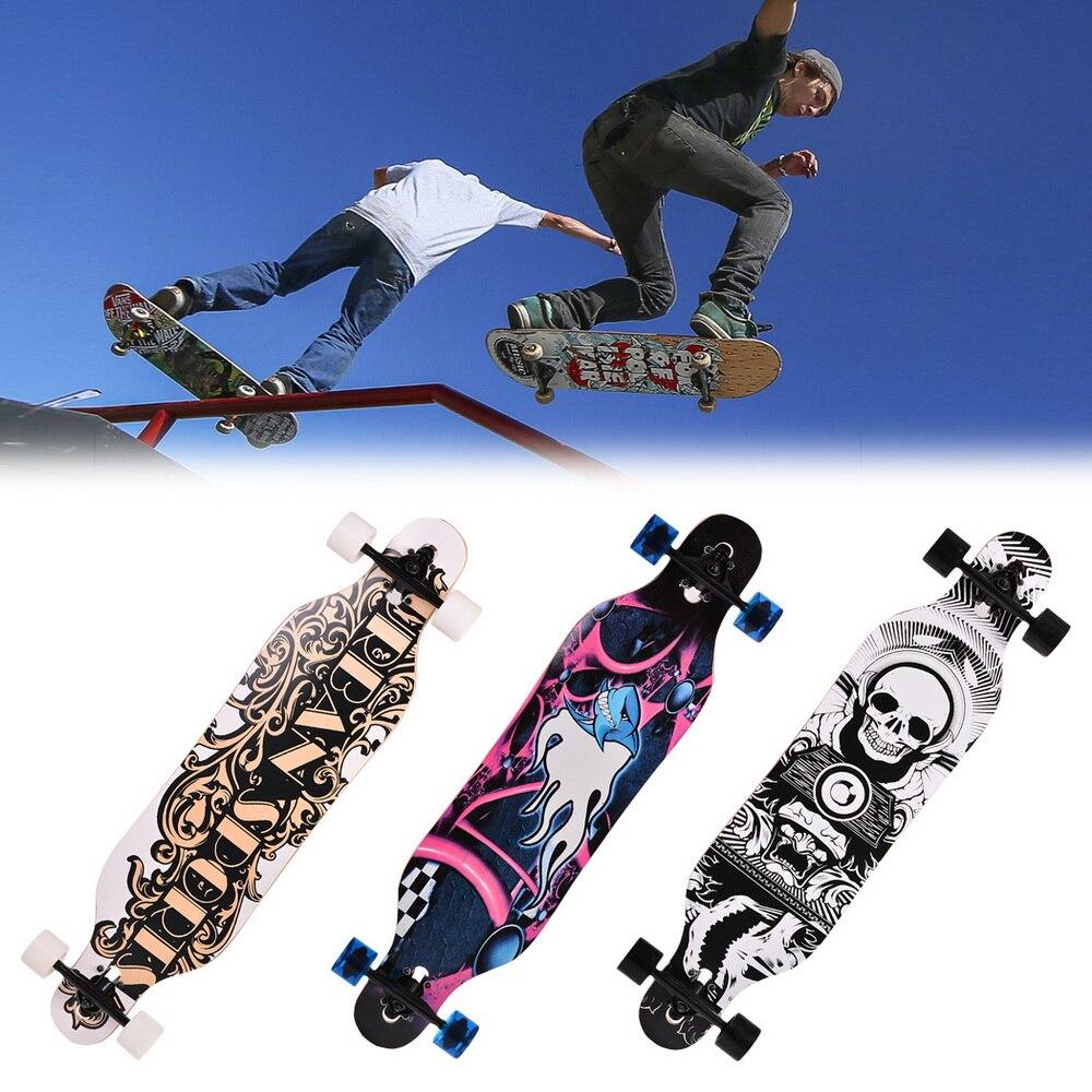 Elifine 41 pulgadas skateboard Maple Longboard Skateboard para adultos velocidad profesional skateboard deportes al aire libre rueda de skateboard