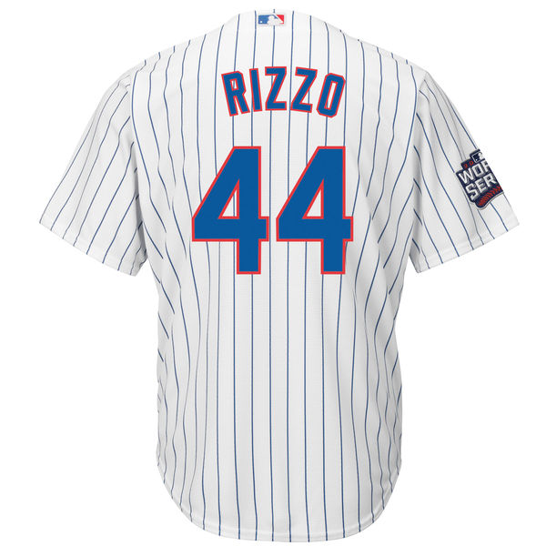 ... mlb mens chicago cubs anthony rizzo 44 baseball white 2016 world series  bound home cool base 684f60582