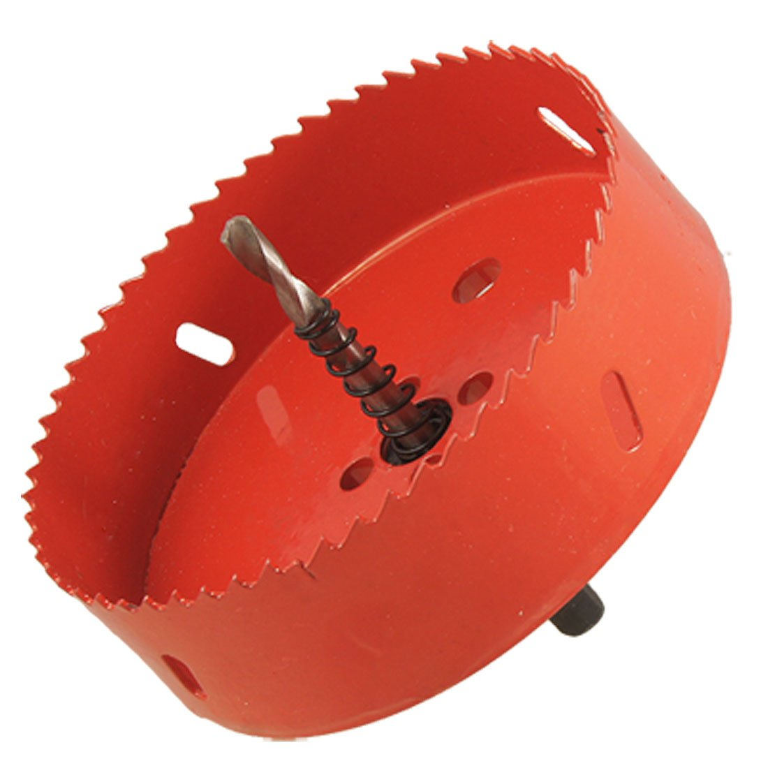 0.63 Drill Bit 120mm Long Red Metal Hole Saw Set for Drilling Wood new 50mm concrete cement wall hole saw set with drill bit 200mm rod wrench for power tool