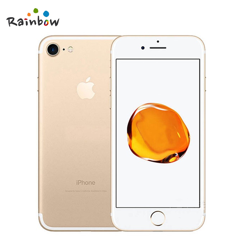 Apple iphone 7 original ios 2gb ram, câmera de 12.0mp e vídeo em 4k, 4g lte com id de toque de impressão digital 4
