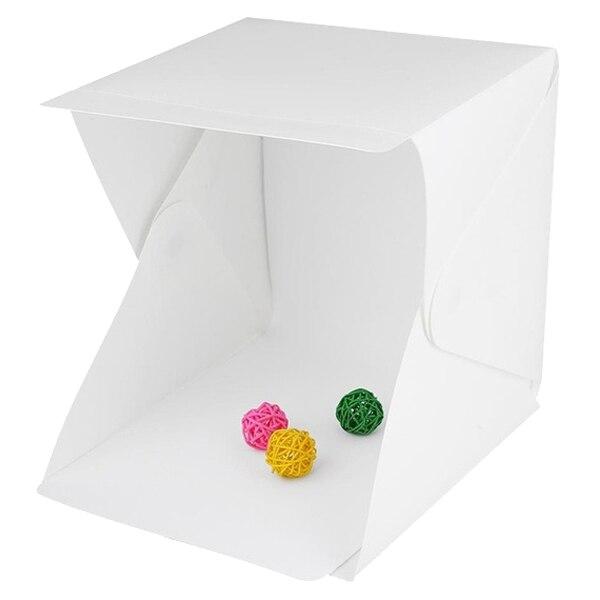 SCLS Mini Foldable Photo studio Photography LED Light Lighting Tent Soft Box (Color: White)