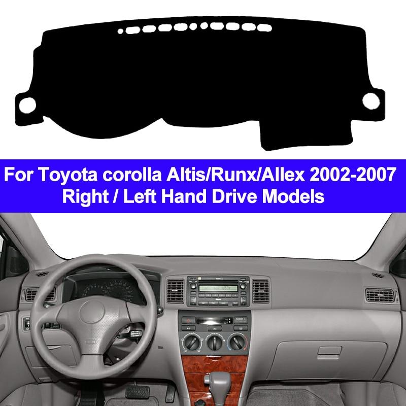 Otomobiller ve Motosikletler'ten Araba Kir Önleme Pedi'de Araba Oto Dashboard Kapak Dashmat Ped Halı Dash Mat Yastık Toyota corolla Altis Için Runx Allex 2002 2003 2004 2005 2006 2007