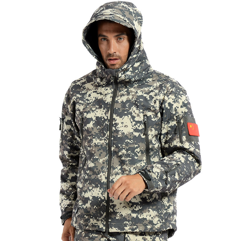 05deed38ee467 Mens TAD Gear soft shell fleece waterproof Windproof jackets Men tactical  camouflage army military clothes Hiking Hunting jacket