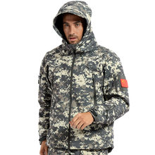 Mens TAD Gear soft shell fleece waterproof Windproof jackets Men tactical camouflage army military clothes Hiking Hunting jacket(China)