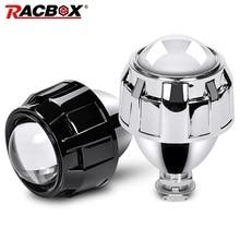 Racbox Auto Styling 2.5 Inch Hid Bi Xenon Koplamp Mini Projector Lens Retrofit H4 H7 Koplamp Lenzen Zwart Zilver Gebruik h1 Lamp